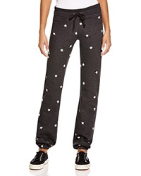 Wildfox Couture Wildfox Football Star Skinny Sweatpants Clean Black