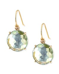 14K Yellow Gold Wire Drop Earrings In Green Topaz Kalan By Suzanne Kalan