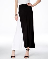 Inc International Concepts Colorblocked Maxi Skirt Only At Macy's Black White