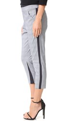 Marissa Webb Paul Plaid Pants Castle Grey Combo