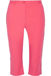 Missoni Cropped Cotton Blend Straight Leg Pants Pink