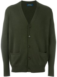 Polo Ralph Lauren Elbow Patch Cardigan Green