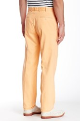 Peter Millar 'Raleigh' Flat Front Washed Cotton Twill Pants Brown
