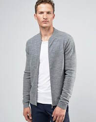 Jack And Jones Premium Slim Zip Knit Bomber Grey Melange Noos