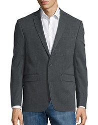 Single Breasted One Button Jacket Grey