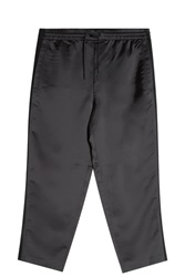 Alexander Wang Satin Track Trousers Black