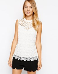 Oasis Victoria Lace Shell Top Cream