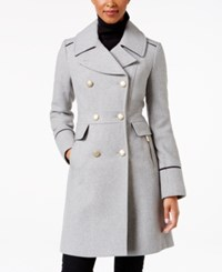 Vince Camuto Double Breasted Military Coat Grey