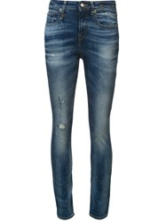 R 13 R13 Mid Rise Skinny Jeans Blue
