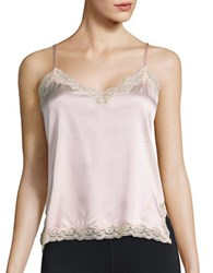 Vannina Vesperini Lace Trimmed Camisole Top Pink