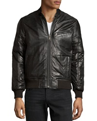 Marc New York By Andrew Marc Ludlow Leather Contrast Jacket Black