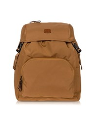 Bric's X Travel Caramel Nylon Backpack
