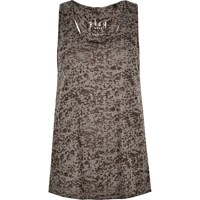 River Island Womens Grey Double Layer Tank Top