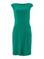 Lauren Ralph Lauren Ros Boat Neck Shift Dress Emerald