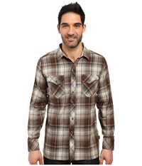 Kuhl Lowdown Long Sleeve Shirt Chestnut Men's Long Sleeve Button Up Brown