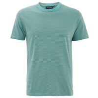 Paul Smith Jeans Men's Striped Crew Neck T Shirt Turquoise