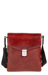 Men's Bosca 'Man Bag' Leather Crossbody Bag Brown Dark Brown