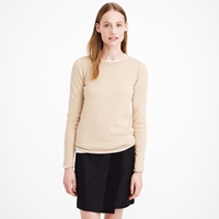 J.Crew Collection Cashmere Sparkle Long Sleeve Tee