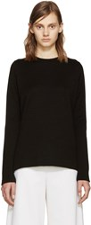 Proenza Schouler Black Side Slit Sweater