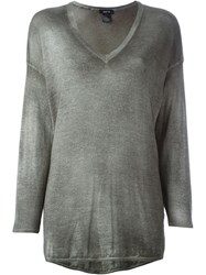 Avant Toi V Neck Sweater Green