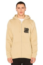Undefeated Strike Vert Und Zip Hoodie Tan