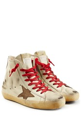 Golden Goose Francy Leather High Top Sneakers White