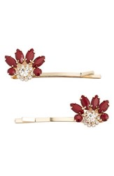 Natasha Couture Dainty Deco Hairpin Red