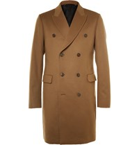 Paul Smith Slim Fit Double Breasted Wool And Cashmere Blend Epsom Coat Green