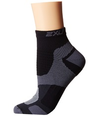2Xu Long Range Vectr Sock Black Black Women's Crew Cut Socks Shoes