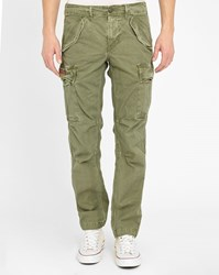 Denim And Supply Ralph Lauren Khaki Washed Cotton Cargo Trousers