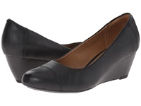 Clarks Brielle Chanel Black Leather Women's Wedge Shoes