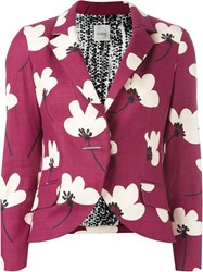 Eggs Floral Print Blazer Pink And Purple