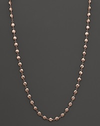 Ippolita Glamazon Rose Flat Hammered Bead Necklace 17 Pink