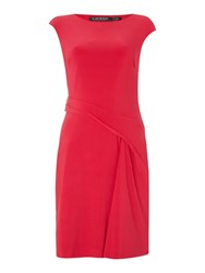 Lauren Ralph Lauren Ros Boat Neck Shift Dress Red