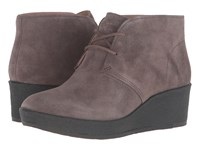Clarks Athie Terra Dark Taupe Suede Women's Lace Up Boots Brown