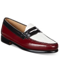 G.H. Bass And Co. Women's Weejuns Whitney Penny Loafers Women's Shoes Burgundy White Black
