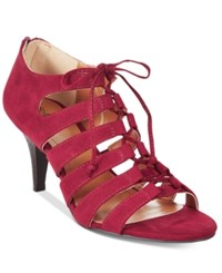 Styleandco. Style Co. Hannde Lace Up Shooties Only At Macy's Women's Shoes Raisin Red