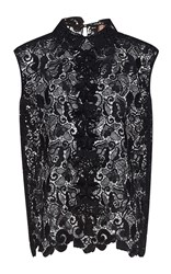 N 21 No. Dorotea Sleeveless Embroidered Top Black