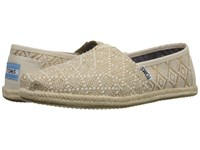 Toms Seasonal Classics Natural Woven Rope Sole Women's Slip On Shoes Beige
