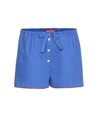 For Restless Sleepers Cotton Shorts Blue
