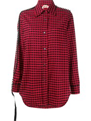 N 21 No21 Diamante Trim Gingham Shirt Red