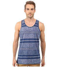 Alternative Apparel Cotton Modal Easy Tank Top Dark Blue Block Stripe Men's Sleeveless