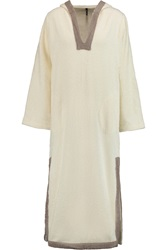 Lisa Marie Fernandez Cotton Terry Hooded Tunic White