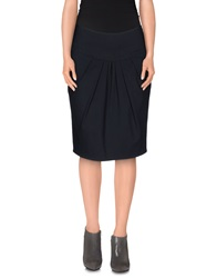 Brian Dales Knee Length Skirts Dark Blue
