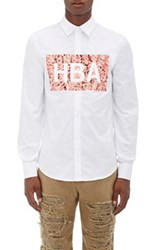 Hood By Air Men's Graphic Cotton Shirt White