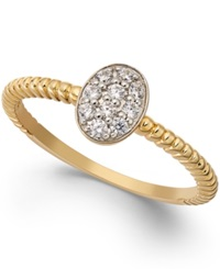 Macy's White Sapphire Cluster Ring 1 4 Ct. T.W. In 14K Gold