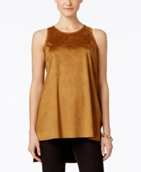 Alfani Prima Faux Suede Tank Top Only At Macy's Vintage Suede