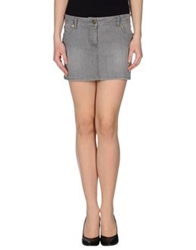 Siviglia Denim Denim Skirts Grey
