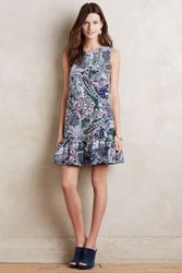 Anthropologie Dropwaist Paisley Dress Green Motif