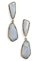 Kendra Scott Women's 'Traci' Double Drop Earrings White Agate Antique Brass